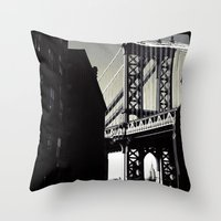 brooklyn Throw Pillows featuring brooklyn by trebam
