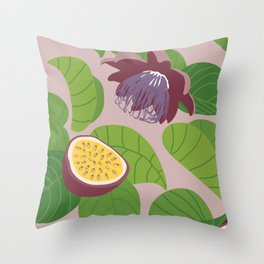 Passion Fruit Throw Pillow