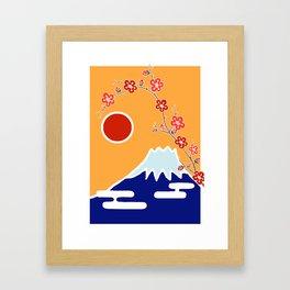 Mount Fuji and Sun Rise Framed Art Print