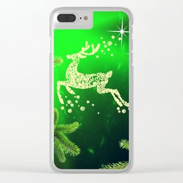 Christmas reindeer happy decoration Clear iPhone Case