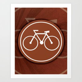 Brown Bicycle Icon  Art Print