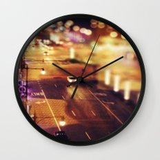 Blurred Lights Wall Clock