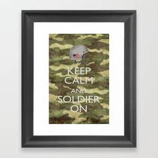 Keep Calm and Soldier On Framed Art Print