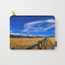 Distant Bighorns - Mountain Scenery in Northern Wyoming Carry-All Pouch