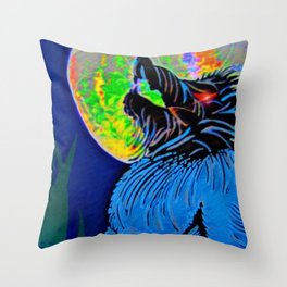 """""""Werewolf Moon"""" Throw Pillow"""
