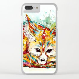 """You're So Foxy"" - Fennec Fox Clear iPhone Case"