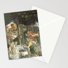 "Sandro Botticelli ""Youth of Moses"", Sistine Chapel. Stationery Cards"