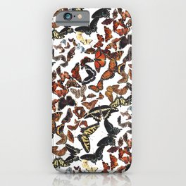 Butterflies of Maine Pattern iPhone Case