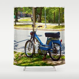Bicycle Blue in the Green  Shower Curtain