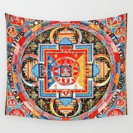 Buddhist Mandala of Jnanadakini Tangka Wall Tapestry