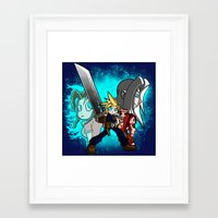 scott pilgrim Framed Art Prints featuring Cloud Pilgrim by CjBouchermedia