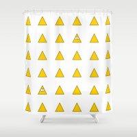 illuminati Shower Curtains featuring Illuminati by BatNeko