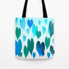 Hearts get Lighter (blue) Tote Bag