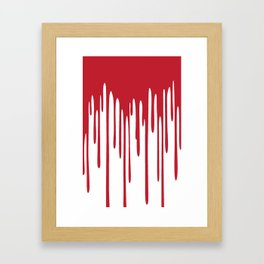 Blood Drippings Framed Art Print