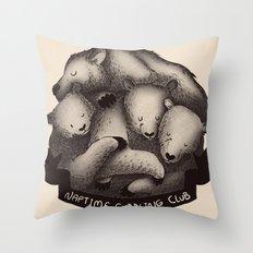Naptime Cuddle Club Throw Pillow