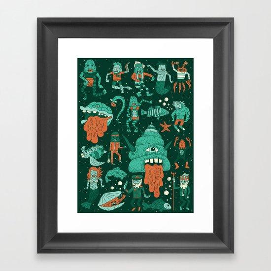 Wow! Creatures!  Framed Art Print