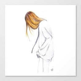 Blonde hair girl Canvas Print
