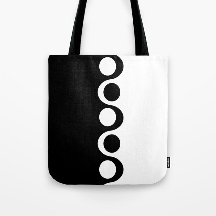 Black and White Mod Tote Bag