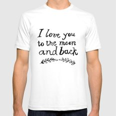 To the Moon and Back- White SMALL Mens Fitted Tee White