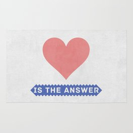 Love is the answer Rug