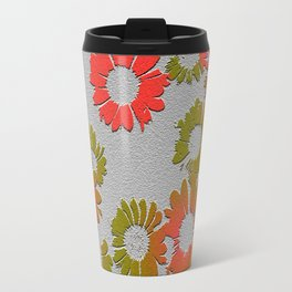 Emboss Floral Travel Mug