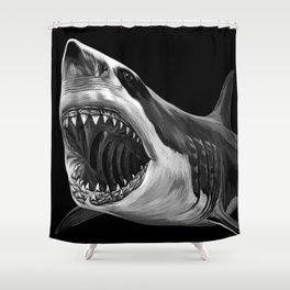 Great White Shark Shower Curtain