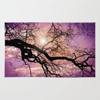 silent Area & Throw Rugs featuring SILENT TREE by INA FineArt