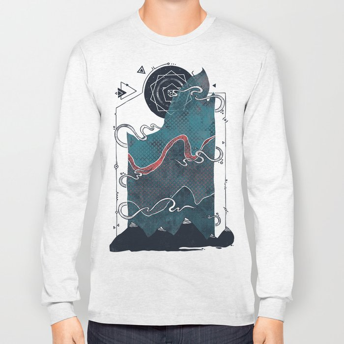 Northern Nightsky Long Sleeve T-shirt