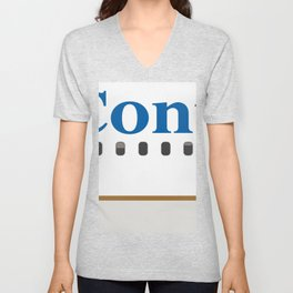 Plane Tees - Continental Airlines Unisex V-Neck