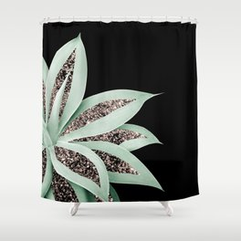 Agave Finesse Glitter Glam #2 #tropical #decor #art #society6 Shower Curtain