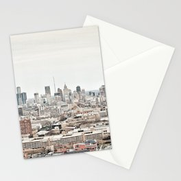 Downtown Detroit Skyline View from New Center Stationery Cards