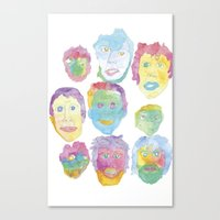 talking heads Canvas Prints featuring Talking Heads by pommagranny