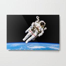 Astronaut Bruce McCandless Floating Free Metal Print