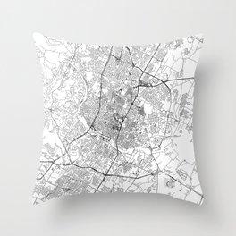Austin White Map Throw Pillow