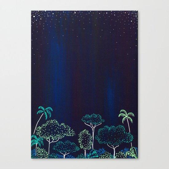 Night Jungle Darkness Canvas Print