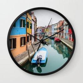 Colorful Burano in Venice, Italy Wall Clock