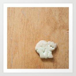 Animal Cracker - wood2 Art Print