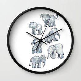 Little Elephants Wall Clock