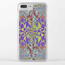qu1lt3d Clear iPhone Case