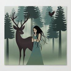 My deer friend Canvas Print