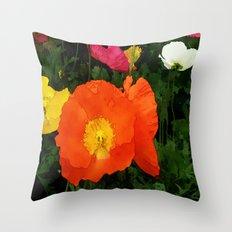 Poppies One Throw Pillow