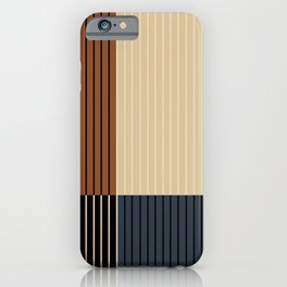 Color Block Line Abstract I iPhone Case