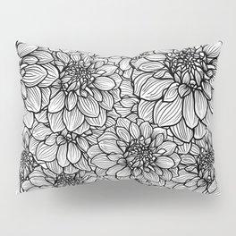 Dahlia in black and white Pillow Sham