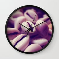shells Wall Clocks featuring Shells by Rafael&Arty