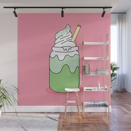 Matcha Smoothie Wall Mural