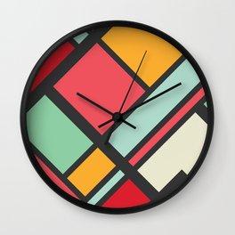 Kitschy Color Blocking Wall Clock