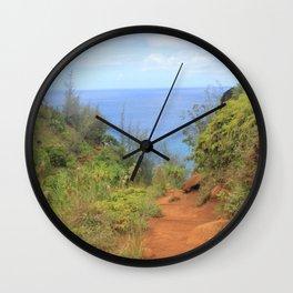 Kalalau Trail II Wall Clock