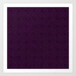 Purple Chevrons Art Print