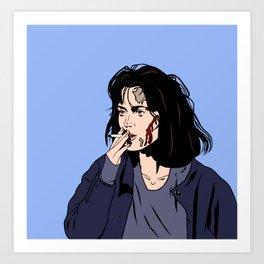 Veronica, you look like hell Art Print