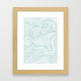 seafoam wave pattern Framed Art Print